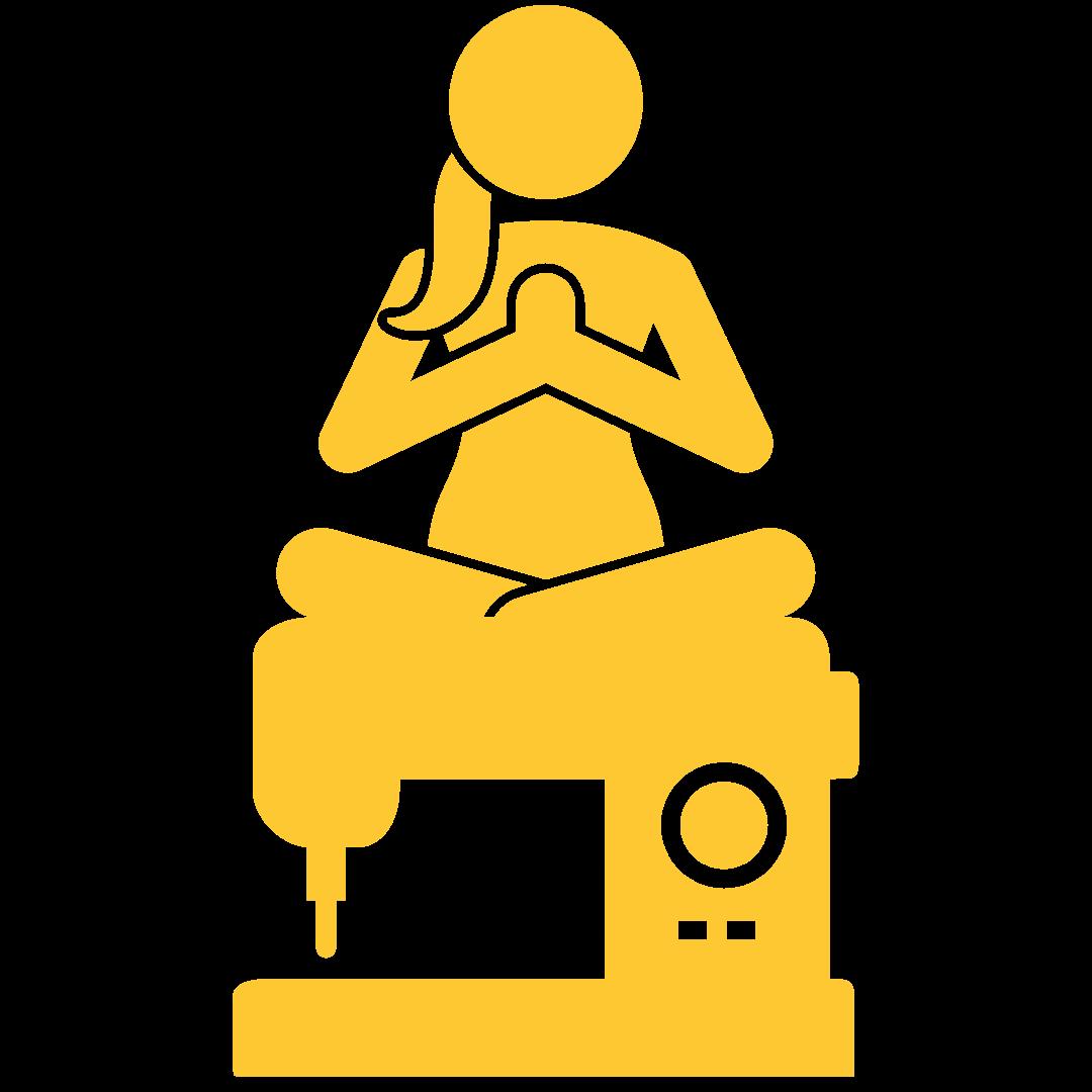 Yogi Nähmaschine gelb